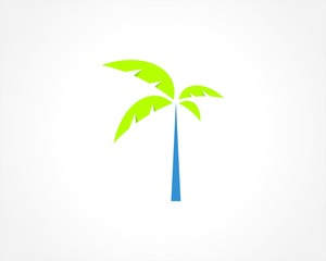 tree palm abstract logo