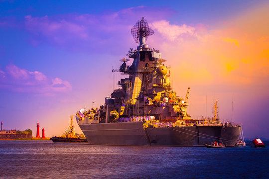 Destroyer. Large warship.