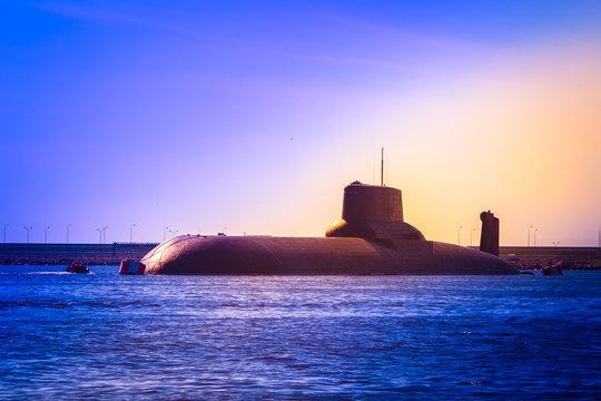 Nuclear submarine. A submarine with nuclear ballistic missiles.