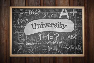 Composite image of image of ac chalkboard