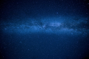 Milky way in the night starry sky