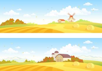 Autumn fields banners