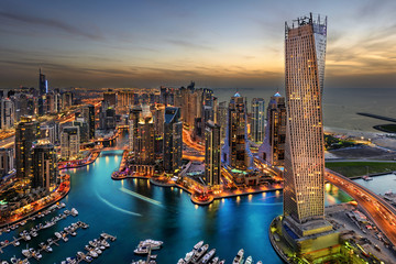 Photo sur Plexiglas Dubai Dubai Marina Bay