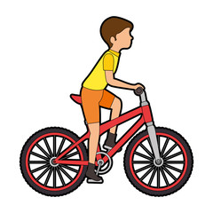cycling man riding a bicycle vector illustration design