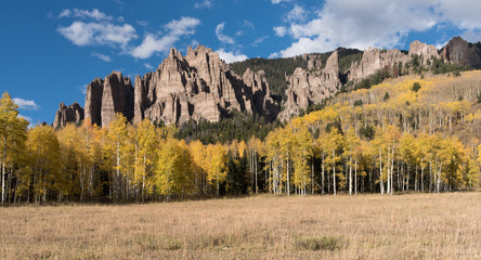 High Mesa Pinnacles in Cimarron Valley located in Gunnison National Forest