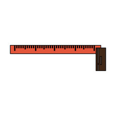 measuring tape tool icon image vector illustration design