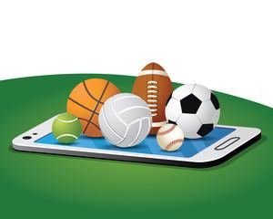 online sport with sport balls