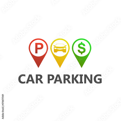 Car parking logo template design stock image and royalty free car parking logo template design maxwellsz