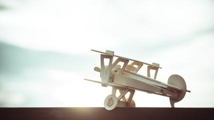 Airplane models in vintage style