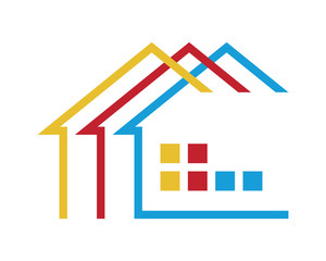 home house residential architect image icon vector
