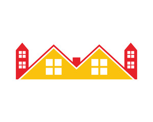 tower roof home house residence architecture building icon image vector