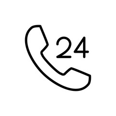 Premium phone icon or logo in line style.