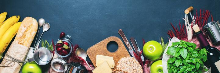 Banner Picnic Ingredients Healthy Fruits Cornel