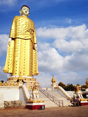 Bodhi Tataung Standing Buddha is the second tallest statue in the world. Monywa, Myanmar.