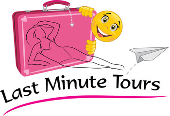 Last minute tours. Drawing for a travel agency