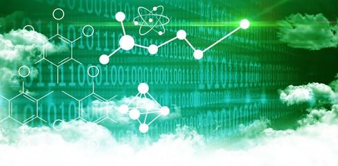 Composite image of illustration of chemical formulas