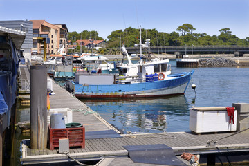 Fishing port of Capbreton, a commune in the Landes department in Nouvelle-Aquitaine in southwestern France.