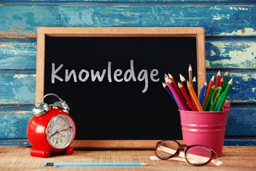 Composite image of knowledge text on white background