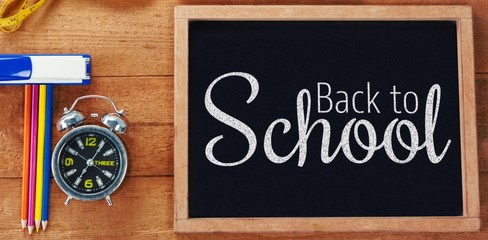 Composite image of digital image of back to school text