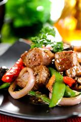 Stir-fried beef,thai food