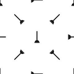 Toilet plunger pattern seamless black