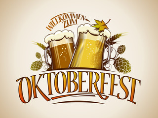 Oktoberfest sign or logo design