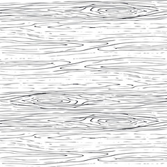Seamless wood grain gray pattern. Wooden texture light curve vector background.