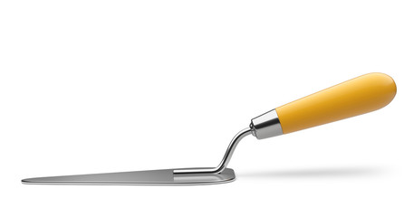 Trowel - fron view. Work construction tool.