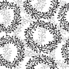 Seamless Floral Pattern with wreath.
