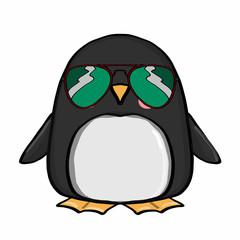 cute penguin and sunglasses