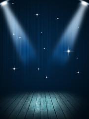 Stage Spotlight Blue Background