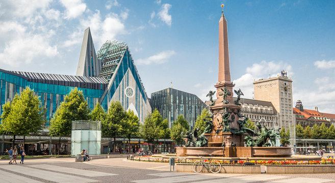 Panorama Augustusplatz in Leipzig
