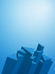 abstract 3D geometric blue background