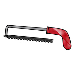 hack saw tool icon image vector illustration design