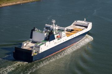 Cargo ship on the meuse
