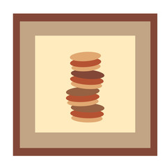 The picture with the biscuits. Vector illustration for decoration, cafe, restaurant or bar.