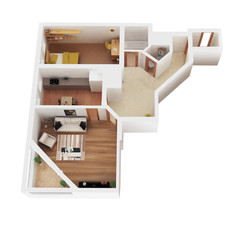 3d render apartment