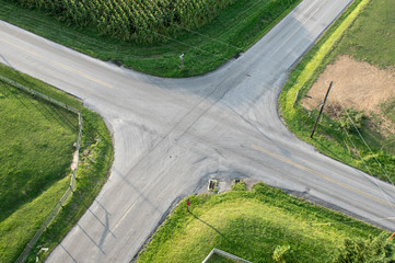 Road Intersection Aerial