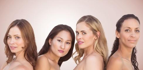 Composite image of portrait of beautiful women
