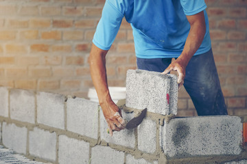 bricklayer - Construction of new home renovation