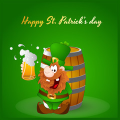 Shamrock on Wine Barrel