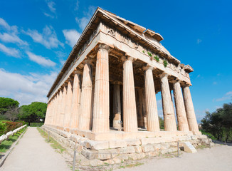 Fototapete - Temple of Hephaestus in Agora of Athens, Greece