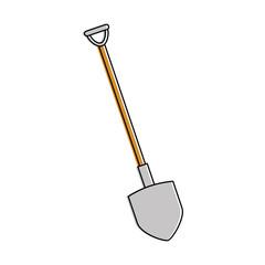 shovel construction isolated icon vector illustration design