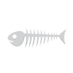 Fish bone vector illustration of skeleton