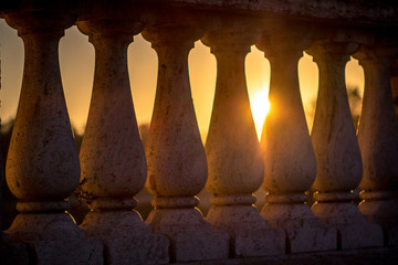 Columns over sunset