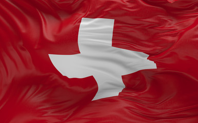 Flag of the Switzerland waving in the wind 3d render