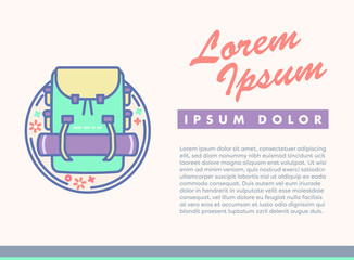 Vector image of card with text lorem ipsum