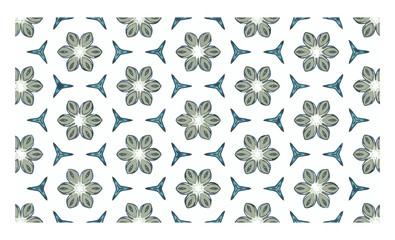 Vector image of seamless flower pattern