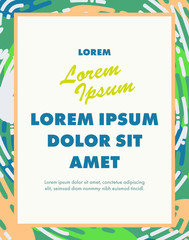 Vector image of card with text lorem ipsum dolor / Vector image of card with text lorem ipsum dolor against white background