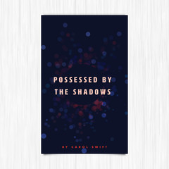 Vector of novel cover with possessed by the shadows text / Vector of novel cover with possessed by the shadows text against white background